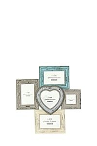 DISTRESSED MULTI PHOTO FRAME 5 PICTURE