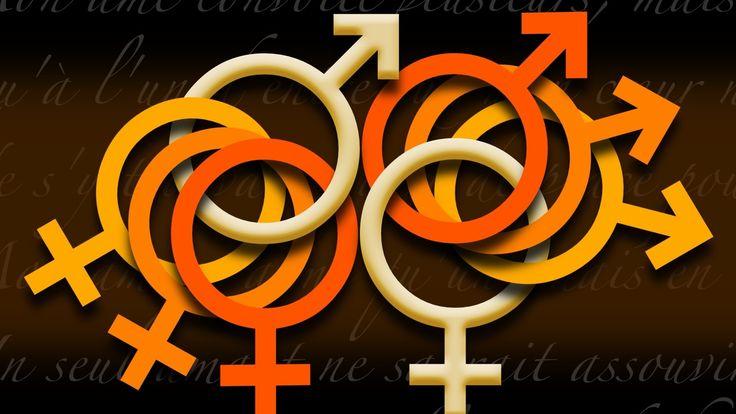 sign, woman, man - http://www.wallpapers4u.org/sign-woman-man/