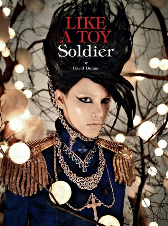Blue military jacket  Like a toy soldier - Vogue / nutcracker