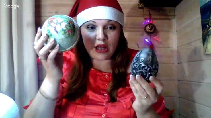886d0297ea9de97f057e99f14e2fb2a3e3eНаталья Каримова, большие новогодние шары. Университет декупажа. Новогодний переполох.