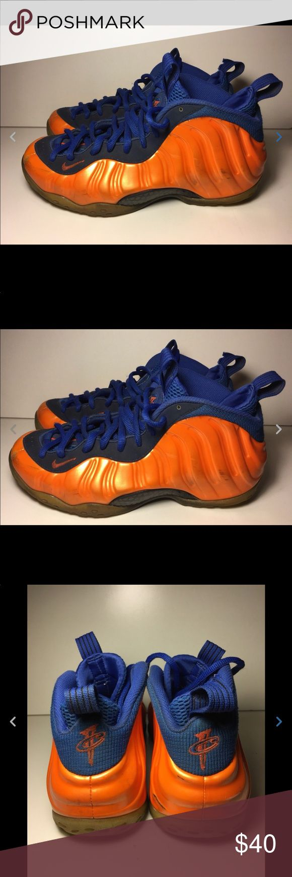 Knicks foamposites size 8.5 up for trades or offer Pretty good condition, look better in person than pictures, selling for the low 100% auth Nike Shoes Sneakers