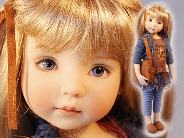Очень часто так случается, что смотришь на куклу, а она тебя не видит, смотрит как бы сквозь, взгляд ее направлен куда-то в пустое пространство, в далекую в бесконечность. Слишком симметрично нарисованные глаза дают ощущение параллельного отсутствующего взгляда. Мой любимый автор, прекрасный мастер коллекционных кукол Дианна Эффнер (Dianna Effner) щедро делится своим секретом, как сделать взгляд куклы более тёплым и живым.