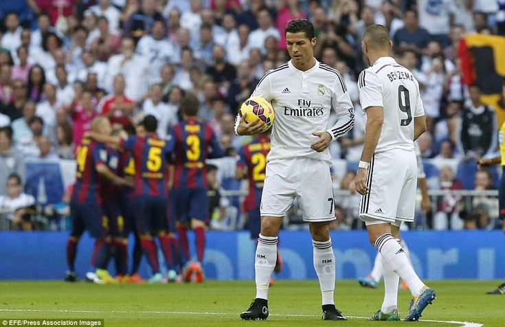 Ronaldo looks frustrated after Real Madrid go 1-0 down but the former Manchester United pl...