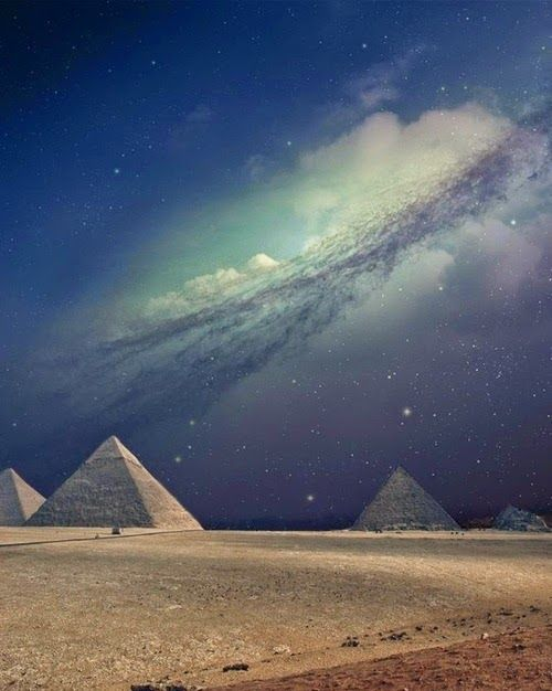 The Milky Way & The Pyramids of Egypt   Fantastic Materials