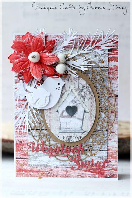 Blog sklep-ewa.pl: Drewnienkowe kartki świąteczne