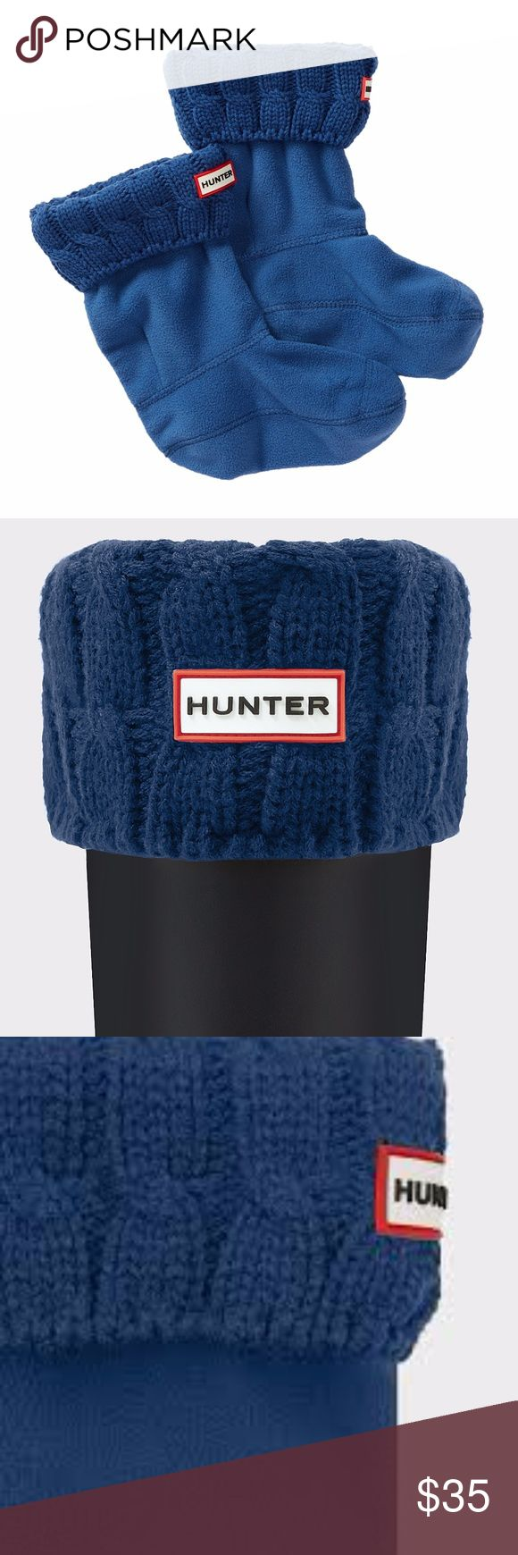 Hunter Short Boot Socks Half Cardigan Size Large Hunter short boot socks half cardigan knitted size large and the color is tarp blue.  These fit the Hunter Chelsea boot or any short Hunter boot. Hunter Accessories Hosiery & Socks