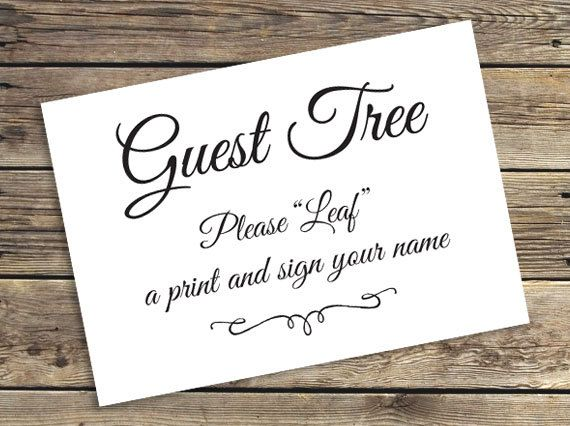 The 25 best wedding fingerprint tree ideas on pinterest printable wedding fingerprint tree guestbook sign by cardsnletters sciox Images
