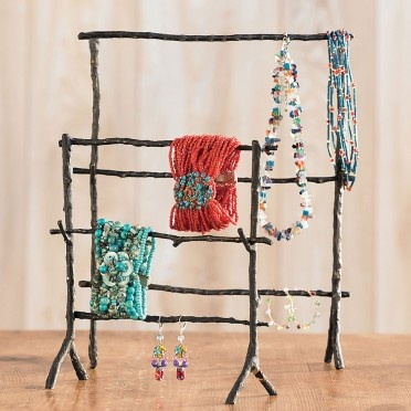 Twig Jewelry Stands: Twig Stands, Color Combos, Jewelry Display, Crafty, Diy'S Twig, Twig Jewelry, Display Idea, Crafts Idea, Jewelry Stands
