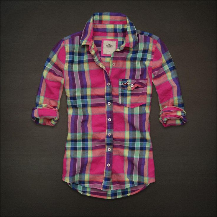 Plaid button up shirt from hollister i absolutely love for Types of flannel shirts