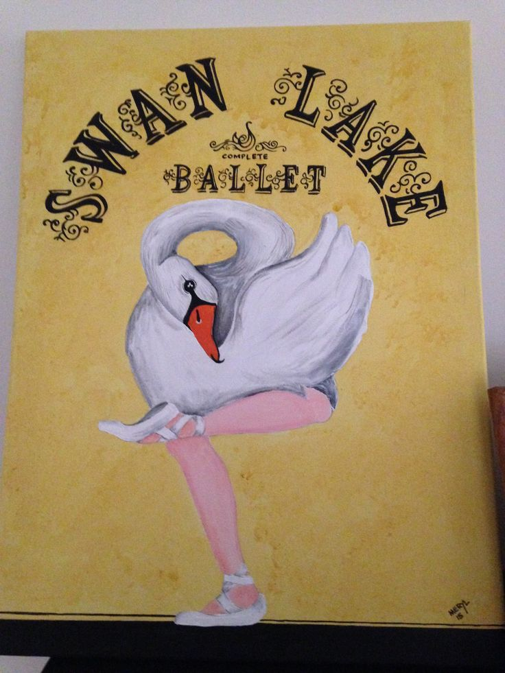 My Swan Lake painting
