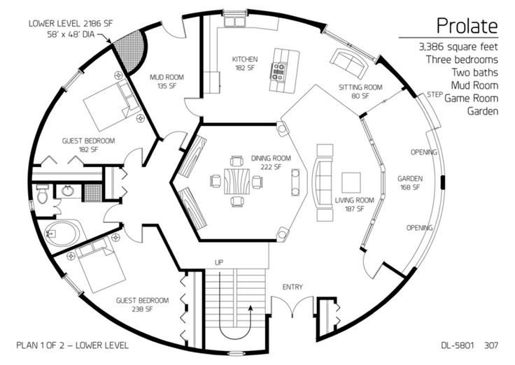 Round Homes Floor Plans: Cordwood Round Home Floor Plan