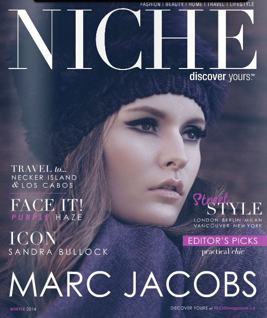 NICHE Winter issue cover  NICHE Winter issue  Photographer and Producer- Christin Gilbert Model- Amy Groves Lizbell Agency Makeup Artist and Hairstylist- Emily Cheng for Benefit Cosmetics Wardrobe Stylist- Claudia Da Ponte Fashion Styling Stylist Assistant- Vicki Duong Shot in Fort Langley, B.C.   See the rest of the looks online: http://www.nichemagazine.ca/digital-editions/winter-2014/