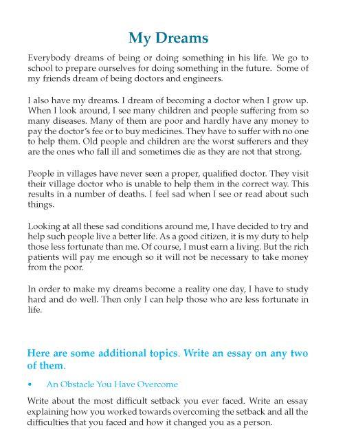 002 Grade 6 Reflective Essay Composition Writing Skill