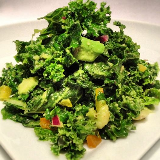 Crazy Sexy Kale (w/avacado cream), inspired by Kris Carr & Chef Chad Sarno