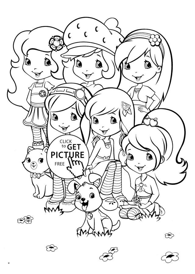 21 Pretty Photo Of Strawberry Shortcake Coloring Pages Lembar