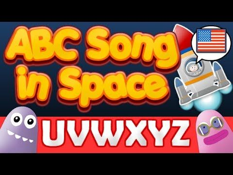▶ ABC Space Song | First Words UVWXYZ | Children, Education, Learn English - YouTube