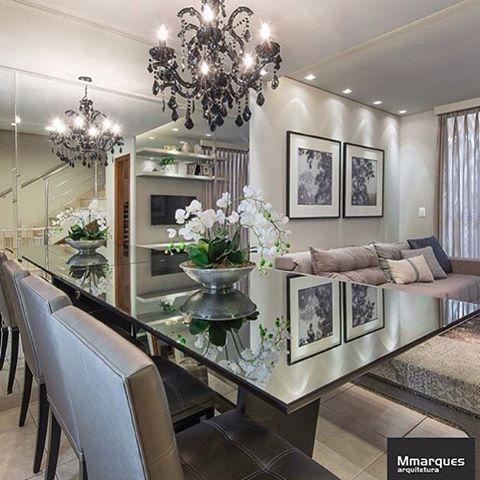 ✨Boa noite amores!!! Inspiração - Sala de jantar by #mmarques_arquitetura ✨ #bloghomeluxo @_dicas4you @homeluxoimoveis