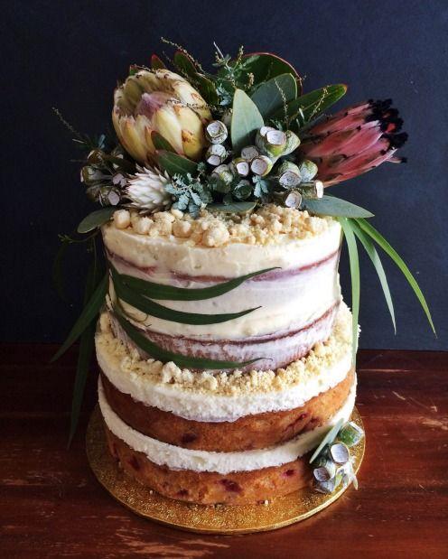 Native wedding cake by Sticky Fingers.