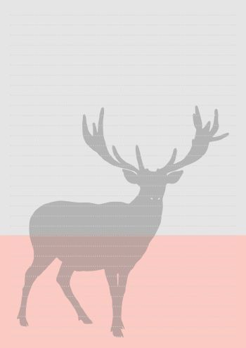 Free Pink & Grey Deer Writing Paper download from Cathartic Malarkey