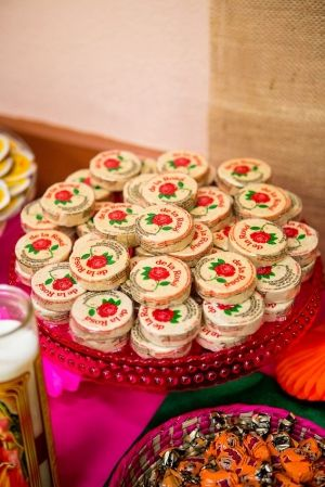 I like the idea of having some samples of tons of traditional goodies. Mexican Wedding Favors.