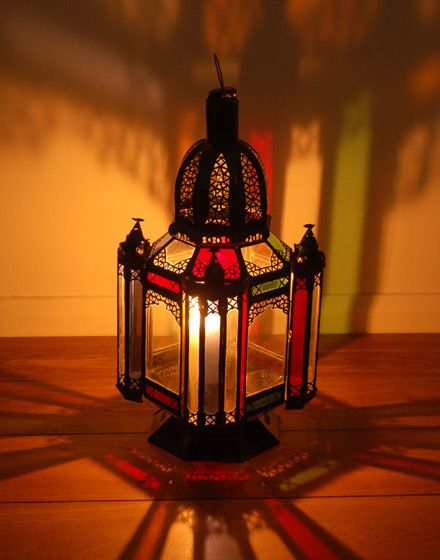 Moroccan Glass Floor Lamp - 52cm