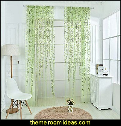 vines Window Curtain Sheer Voile Panel Drapes Curtain