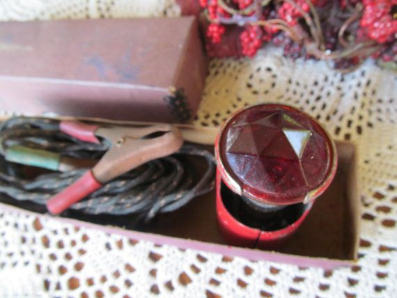 Antique Motorcycle Light Jeweled Trouble Light by ReVintageLannie