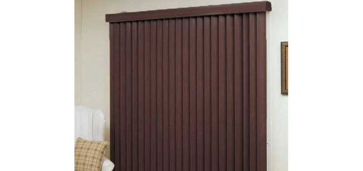 3 1/2 Designer Faux Wood Verticals Custom Blinds and Shades By SelectBlinds.com