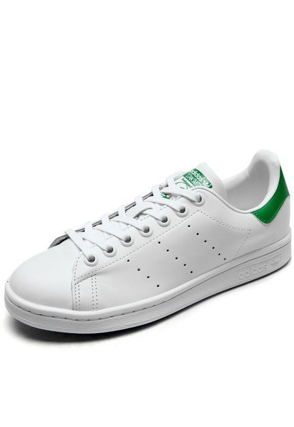 488bbe1c5b Tênis Couro adidas Originals Stan Smith Branco Verde
