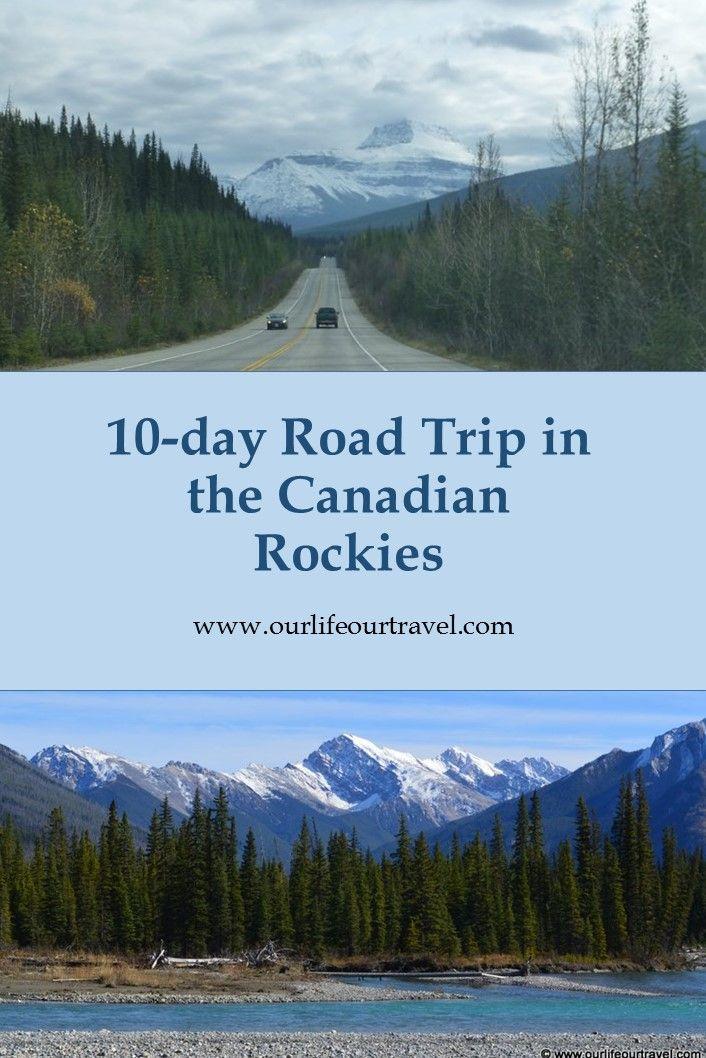 Een 10-daagse roadtrip door de Canadese Rocky Mountains.