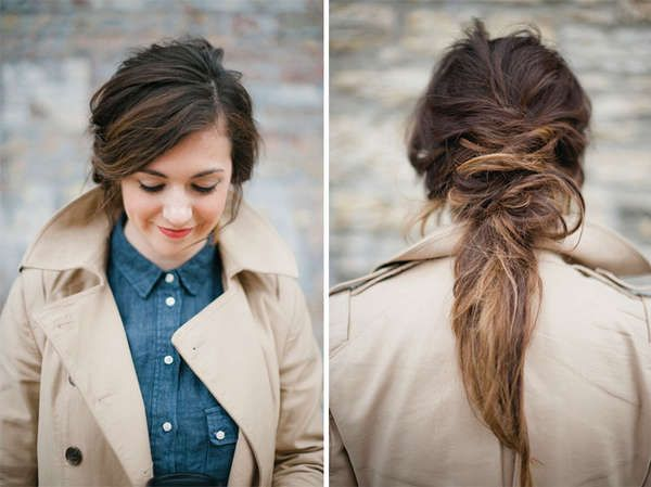 The Spring Beauty Deconstructed Ponytail Guide Focuses on the Unkempt #hair #tutorial trendhunter.com