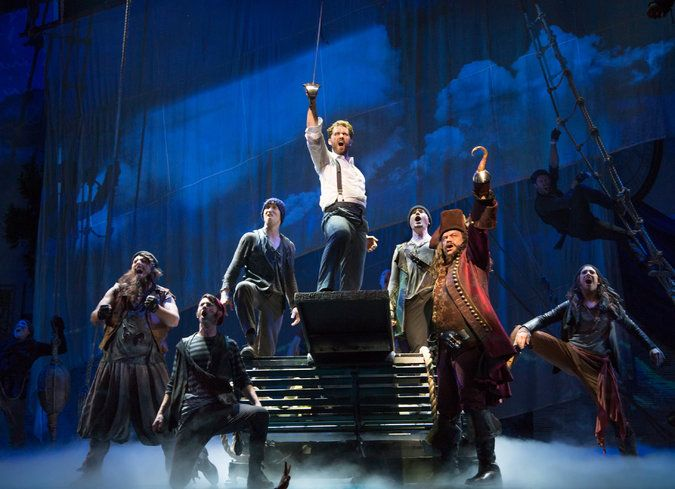 'Finding Neverland,' a 2015 Broadway Musical, with Matthew Morrison as J. M. Barrie, writer of Peter Pan, and Kelsey Grammer as Captain Hook.