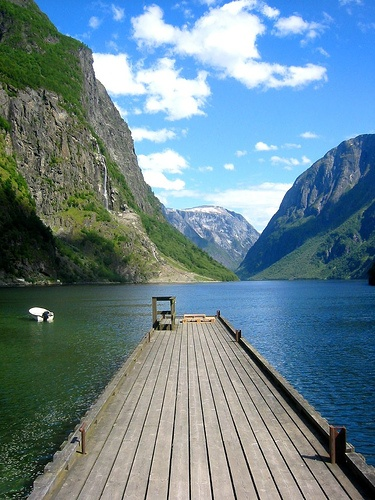 Wanna see a fjord? by Claudio Vaccaro, via Flickr - The Gudvangen Fjord in Norway (CC BY-NC-ND 2.0)