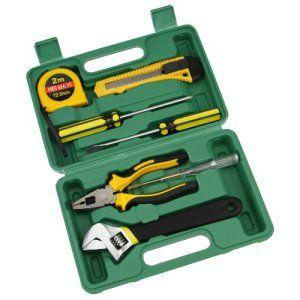 Fake Face Set de 8 pcs Outils de Réparation Portable Tool Matériels Professionnels Kit Ménages Kit d'Urgence Automobile Outil de Rechange