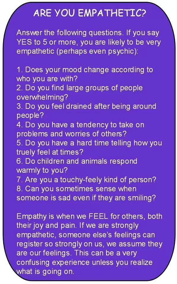 I don't feel like I'm really a HSP, or, Highly Sensitive Person, or an Empath, but like almost all of these fit me. I don't know. It's confusing.