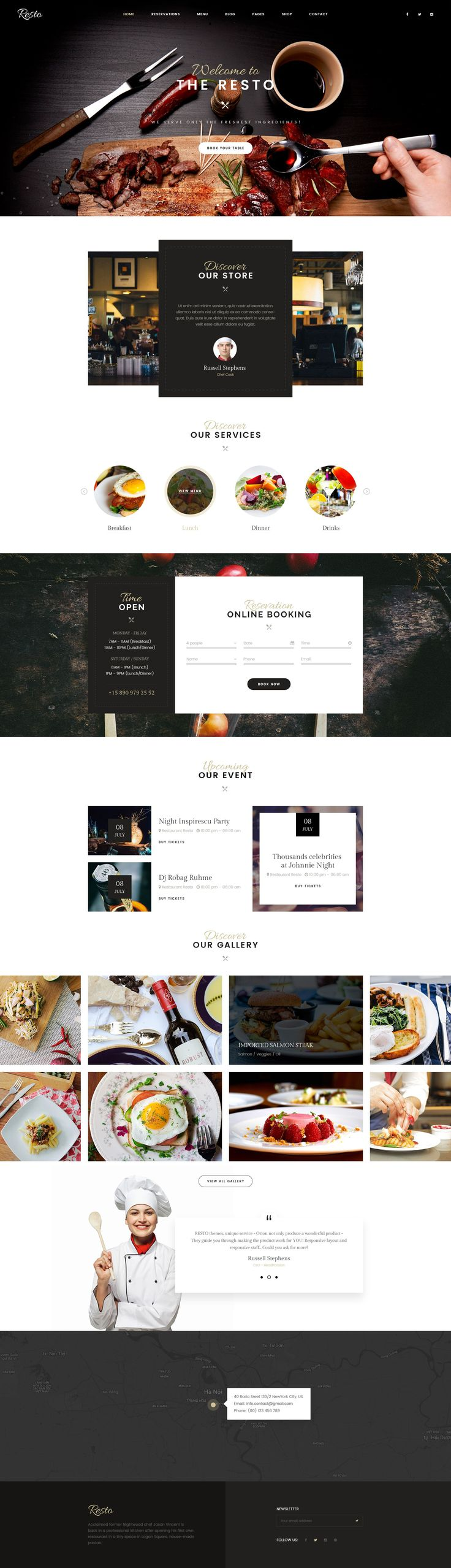 1. Introduction      	Resto – Multipurpose Restaurant & Cafe PSD Template is an attractive and easy-to-use responsive PSD Template created especially for restaurants, FastFood, coffee shops…. You can ...