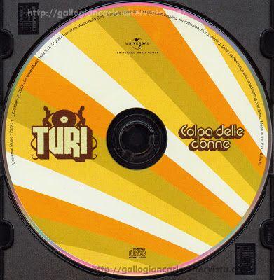 """Turi """"Colpa delle donne"""" Cd Hip Hop EAN 0602517358713 - copertina tracce e testi cd hip - hop - Questo cd è del 2007 EAN 0602517358713"""