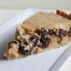 Norwegian Sour Cream and Raisin Pie Allrecipes.com
