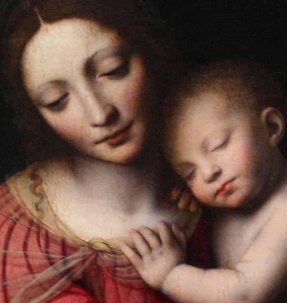 Bernardino Luini. Sonno del bambino Gesú. 1521. (detall).