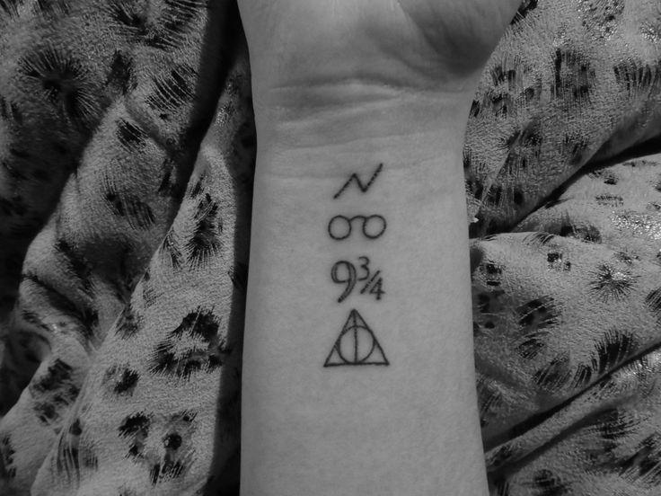 Harry Potter fan tattoo. Simple symbols.