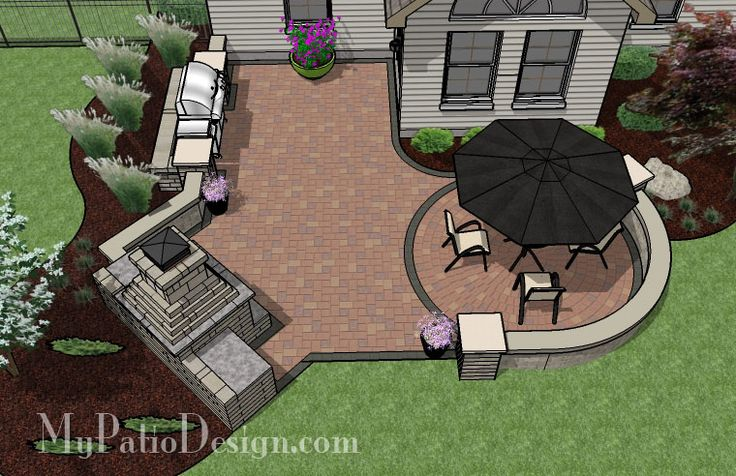 Small Outdoor Living Patio - Patio Designs & Ideas. This website has awesome ideas for patios. Love them all :)