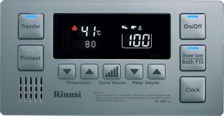 Hot Water System Deluxe Bathroom Controller - Rinnai Australia