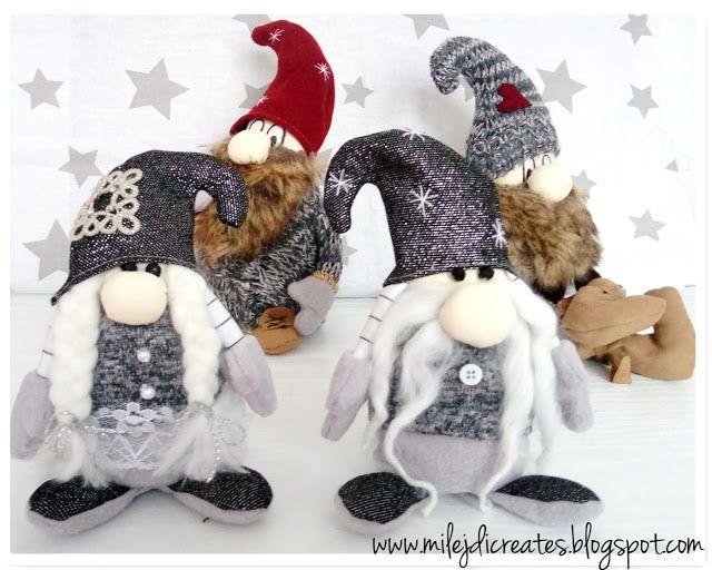 DIY - Zrób to sam, Handmade, Upcykling, Moda, Dekoracje, Inspiracje: Skrzaty świąteczne, krasnale na Boże Narodzenie DI...
