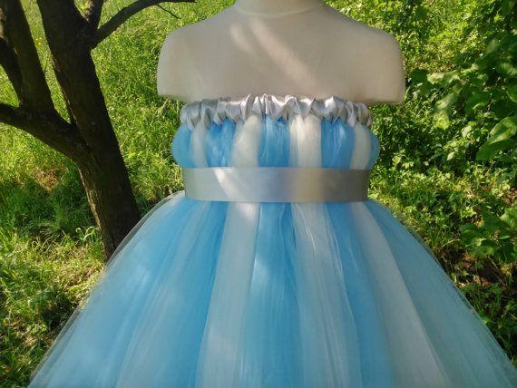 Ice princess tutu – white and blue tutu dress – tutu dress – baby tutu dress – wedding tutu dress – party tutu dress – birthday tutu dress
