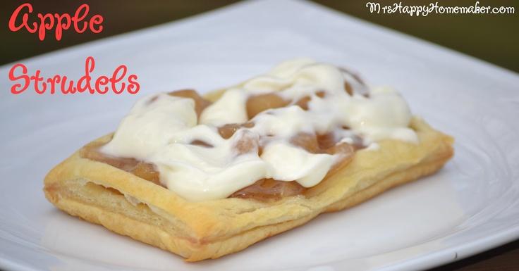 Apple Strudels (Homemade Toaster Strudels) - Mrs Happy Homemaker