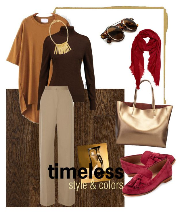 """""""timeless look"""" by ina-misshijab on Polyvore featuring Emilia Wickstead, The Row, Cole Haan, Stephanie Kantis and Peach Couture"""