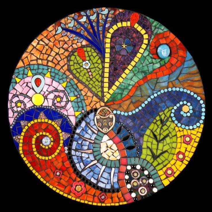 The Lock Stained Glass Mosaic Mandala