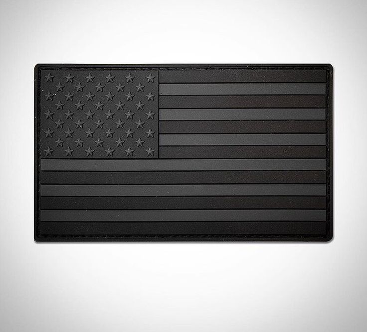 Murdered Out American Flag PVC Patch
