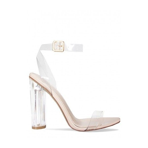 We seriously can't get enough of perspex heels. You'll slay in these lust-worthy strappy barely there heels. Style them up with a midi dress and long satin max…