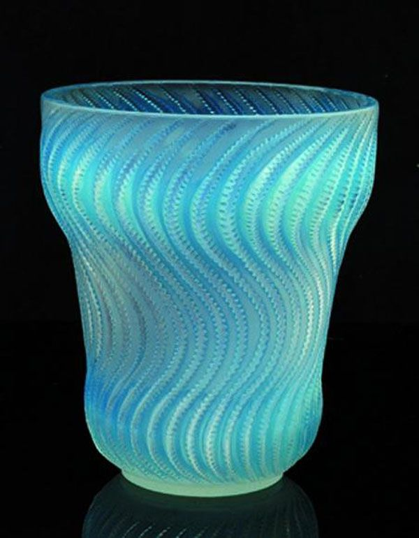 Rene Lalique 'Actinia' opalescent glass vase of baluster shape… - French - Glass - Carter's Price Guide to Antiques and Collectables